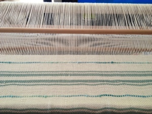 My newest weaving that looks more like a beach towel than I anticipated...