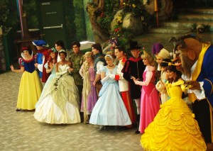 "A theatrical show featuring the ""Princesses"", our ready and willing role models for little girls, and in some cases, adults."